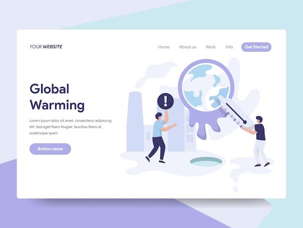 Illustrazione del riscaldamento globale Vettore Premium