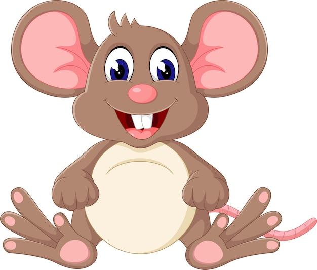 Illustrazione del simpatico cartone animato di topo del bambino