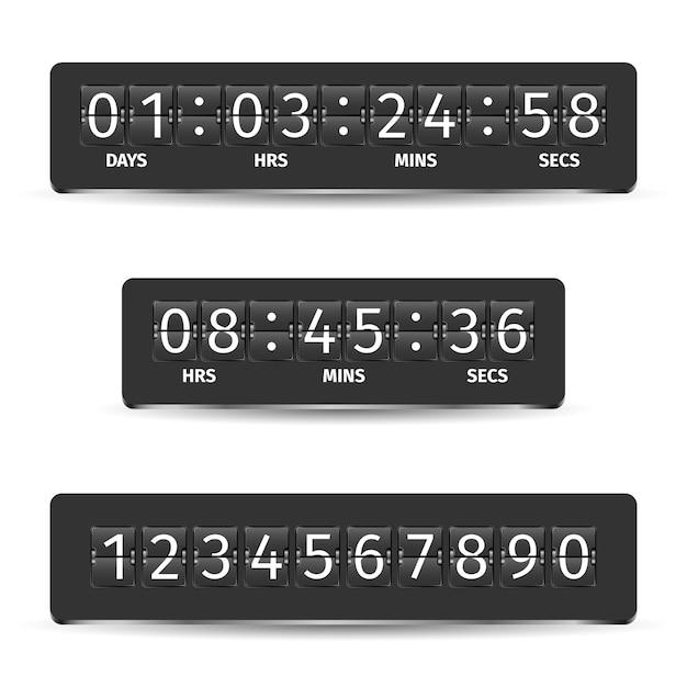 Illustrazione del timer del conto alla rovescia Vettore gratuito