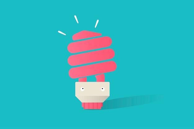 Illustrazione del vettore della lampadina su fondo blu Vettore gratuito