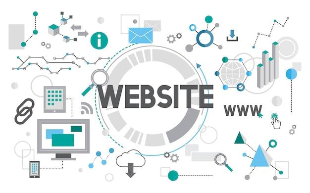 Illustrazione del web design Vettore gratuito