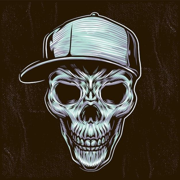Illustrazione dell'adolescente del cranio Vettore Premium