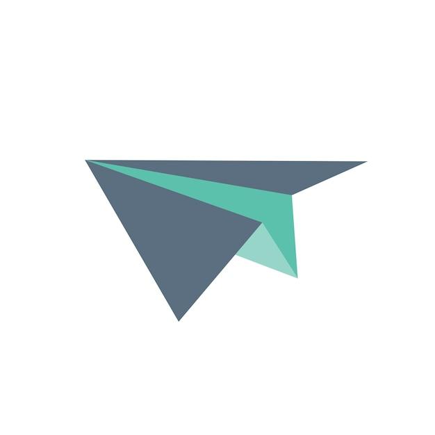 Illustrazione dell'aereo di carta Vettore gratuito