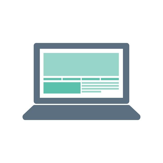 Illustrazione dell'icona del computer Vettore gratuito