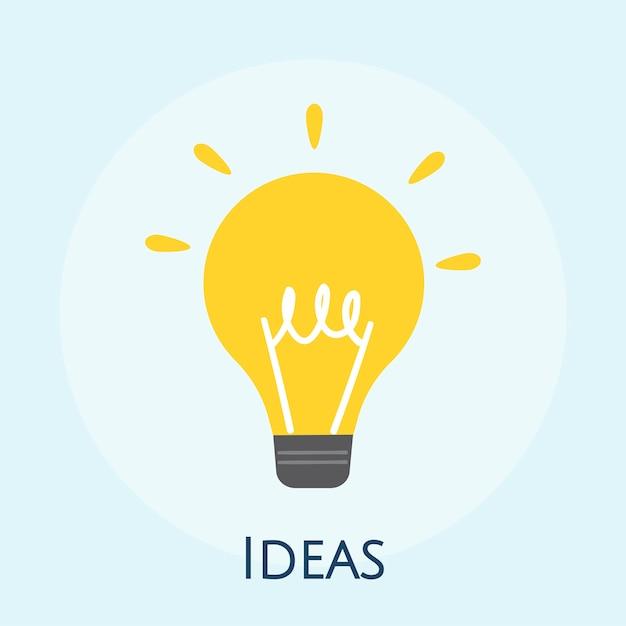 Illustrazione dell'icona della lampadina Vettore gratuito