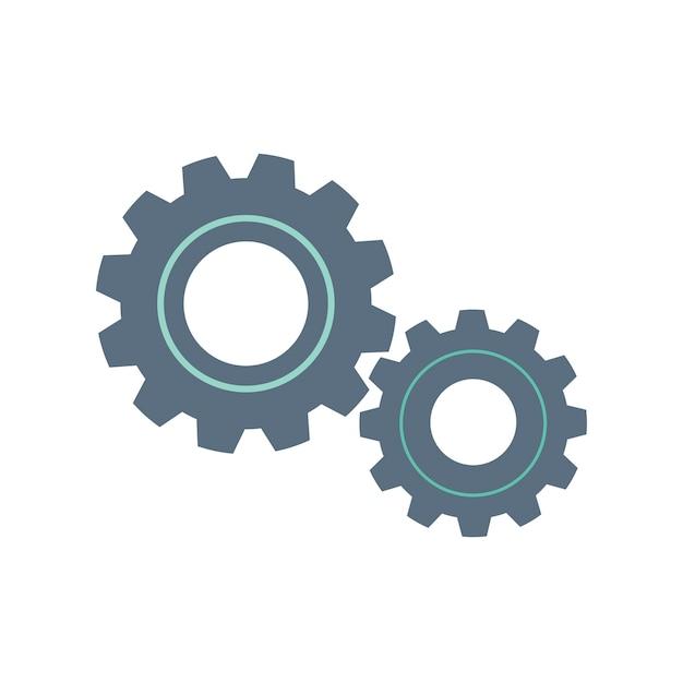 Illustrazione dell'icona di doodle di ingranaggio Vettore gratuito