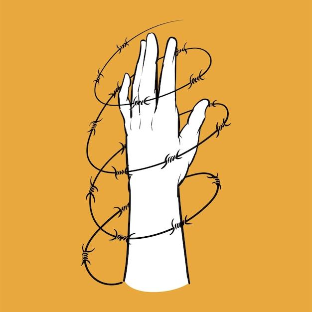 Illustrazione dell'illustrazione della mano del concetto di elezione Vettore gratuito