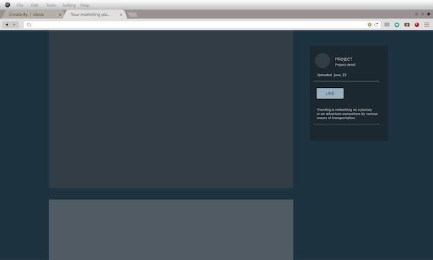 Illustrazione dell'interfaccia utente Vettore gratuito