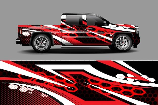 Illustrazione dell'involucro della decalcomania dell'automobile Vettore Premium