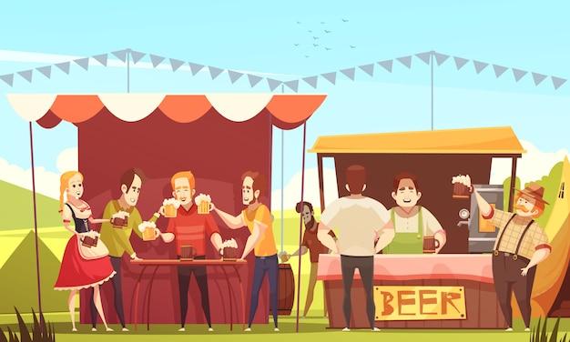 Illustrazione dell'oktoberfest Vettore gratuito