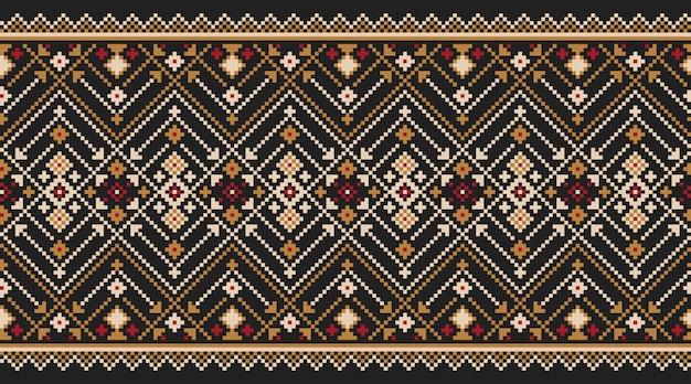 Illustrazione dell'ornamento senza giunte folk ucraino. ornamento etnico Vettore gratuito