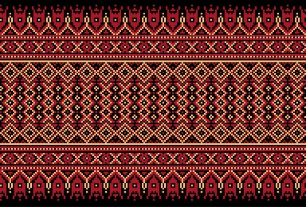 Illustrazione dell'ornamento senza giunte folk ucraino. Vettore gratuito