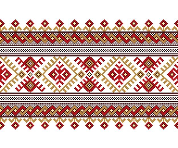 Illustrazione dell'ornamento senza giunte folk ucraino Vettore gratuito