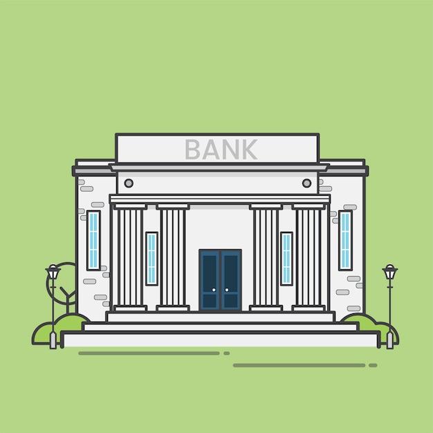 Illustrazione della banca Vettore gratuito
