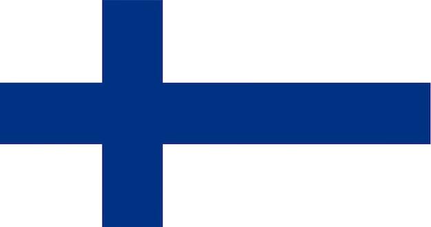Illustrazione della bandiera della finlandia Vettore gratuito