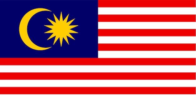 Illustrazione della bandiera della malesia Vettore gratuito