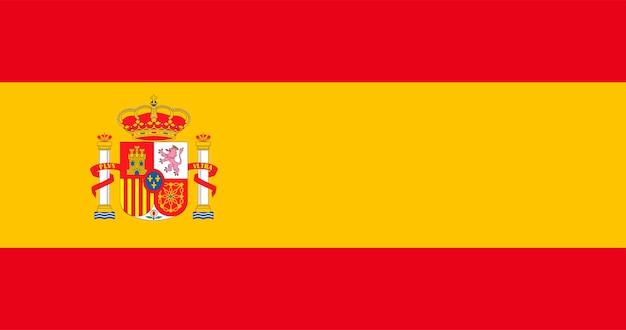 Illustrazione della bandiera della spagna Vettore gratuito
