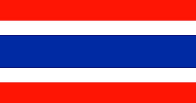 Illustrazione della bandiera della thailandia Vettore gratuito