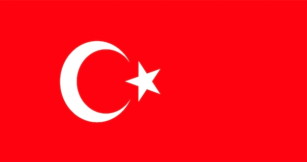 Illustrazione della bandiera della turchia Vettore gratuito