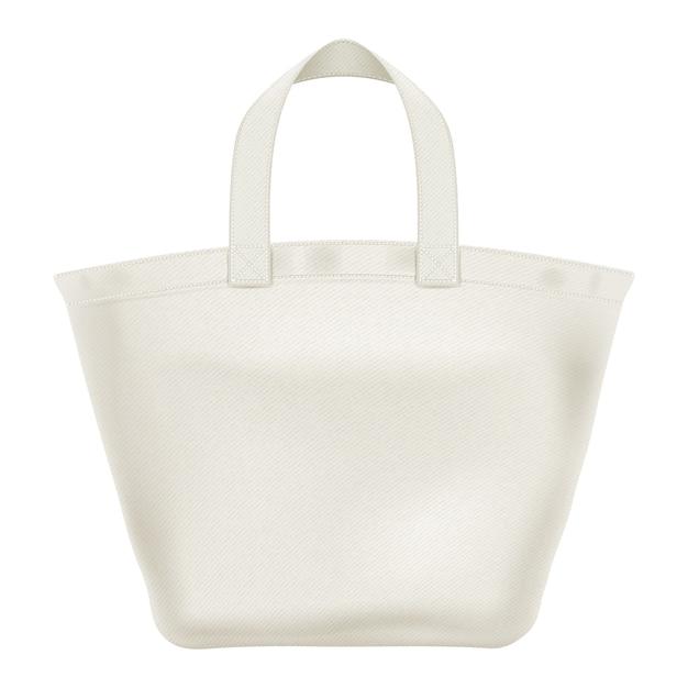 Illustrazione della borsa shopper tote eco tessile. Vettore Premium