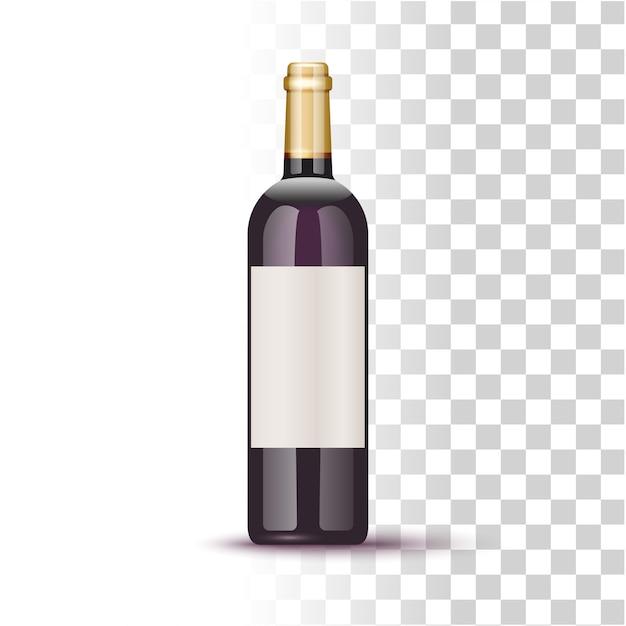 Illustrazione della bottiglia di vino Vettore Premium