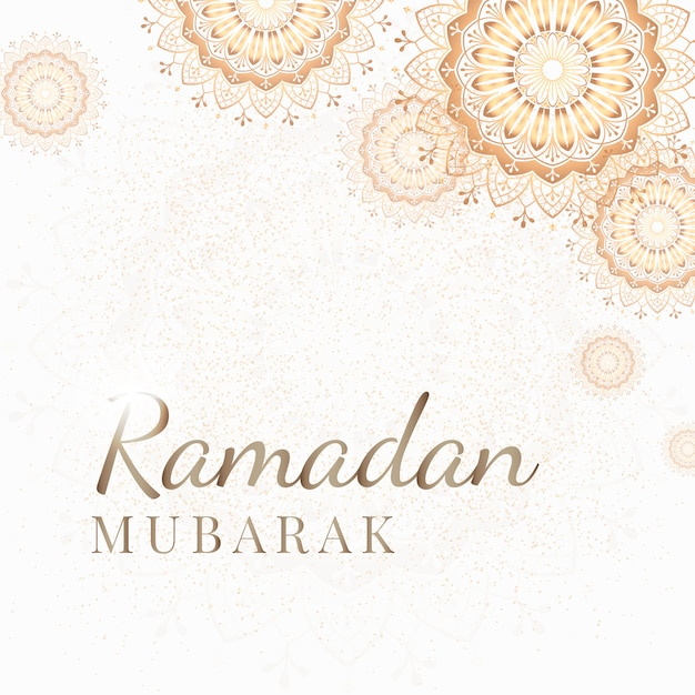 Illustrazione della carta del ramadan Vettore gratuito