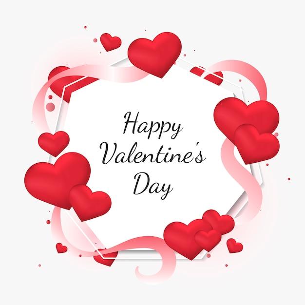 Illustrazione della carta di san valentino Vettore gratuito
