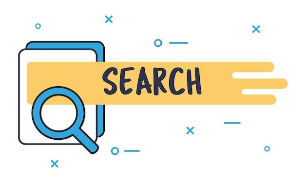 Illustrazione della casella di ricerca Vettore gratuito
