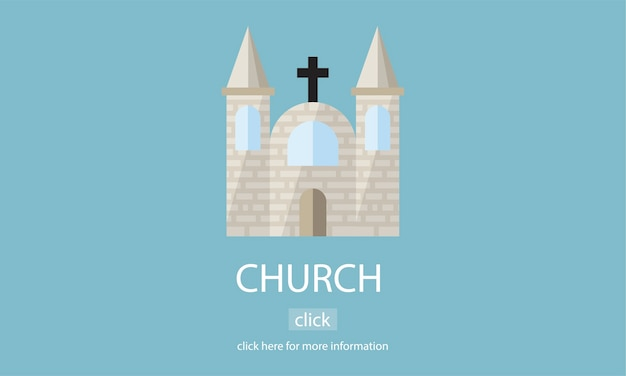 Illustrazione della chiesa Vettore gratuito