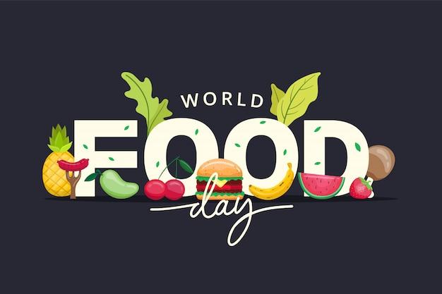 Illustrazione della giornata mondiale dell'alimentazione Vettore Premium