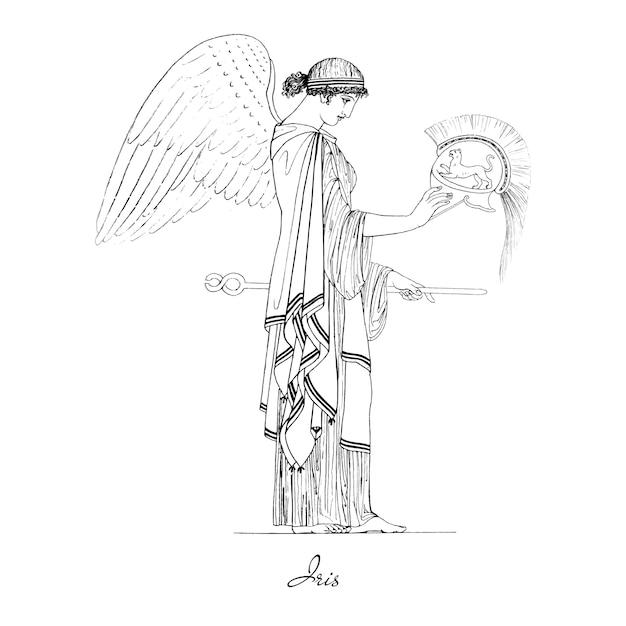 Illustrazione della grecia antica Vettore gratuito