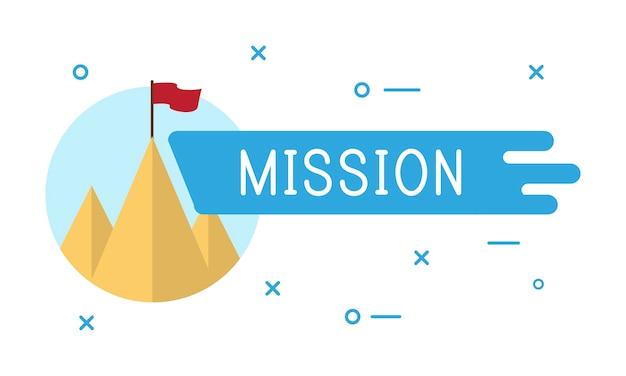 Illustrazione della missione aziendale Vettore gratuito