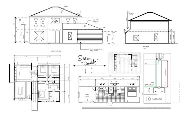 Illustrazione della pianificazione della casa Vettore gratuito