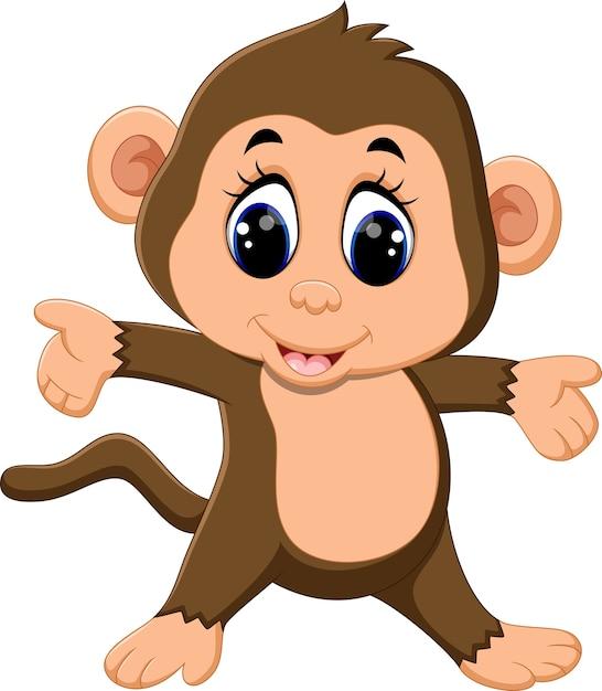 Illustrazione della scimmia simpatico cartone animato scaricare