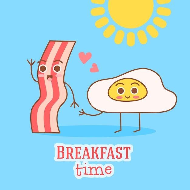 Illustrazione della struttura carina e semplice con frittata, olio d'oliva, uova, latte, sale, cipolla, funghi Vettore gratuito