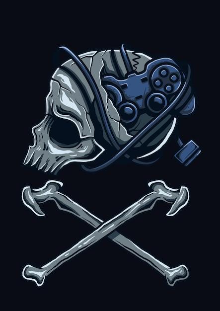 Illustrazione della testa del giocatore Vettore Premium
