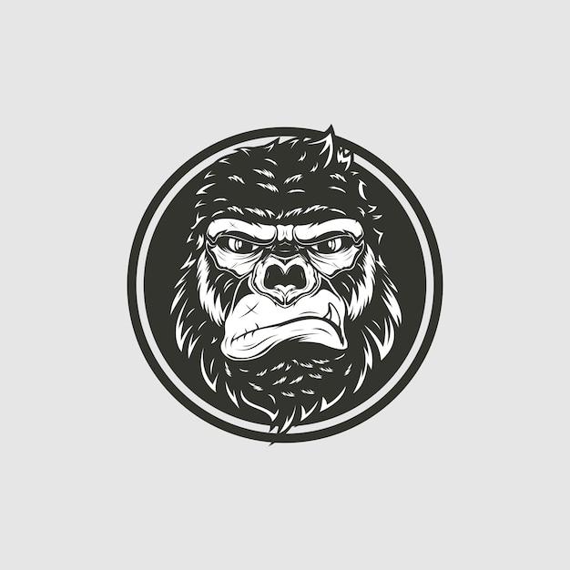 Illustrazione della testa di scimmia Vettore Premium