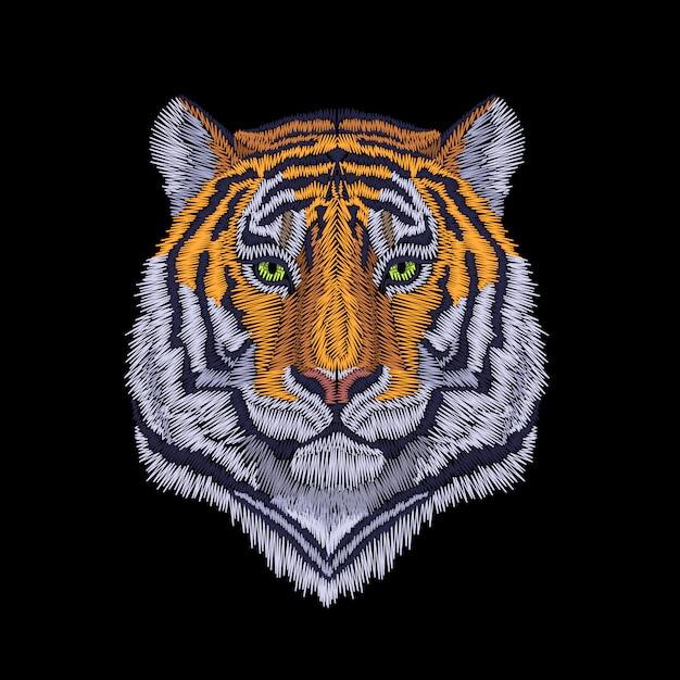 Illustrazione della testa di tigre Vettore Premium