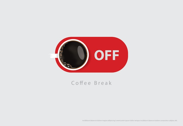 Illustrazione delle alette di filatoio della pubblicità del manifesto del caffè Vettore Premium