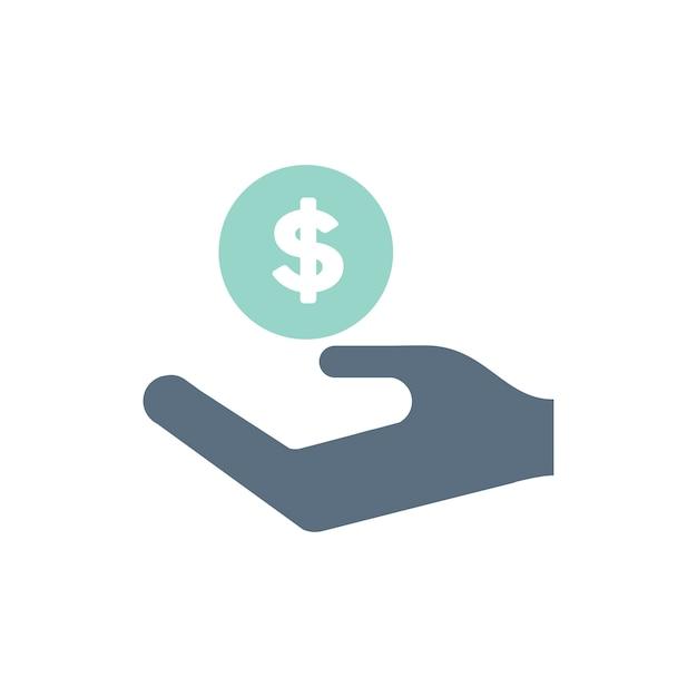 Illustrazione delle icone di supporto di donazione Vettore gratuito