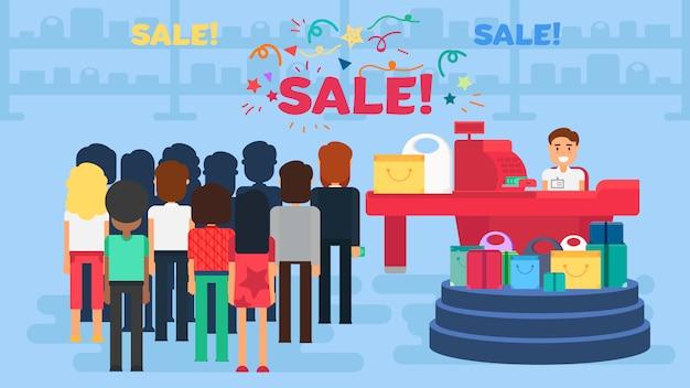 Illustrazione dello shopping Vettore Premium
