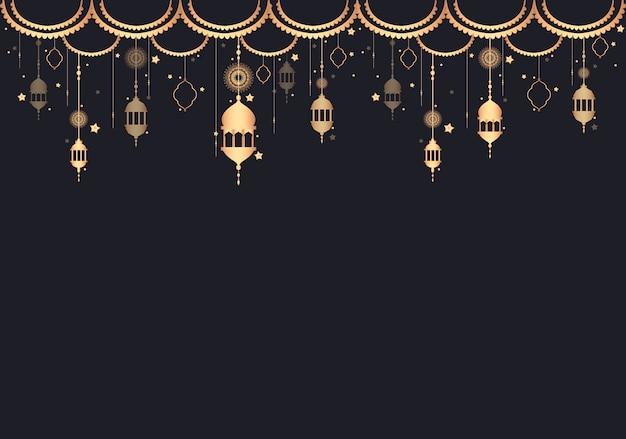 Illustrazione dello spazio di progettazione della lanterna Vettore gratuito