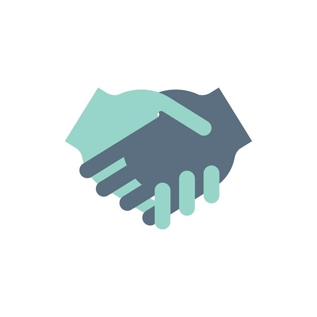 Illustrazione di accordo di mani tremanti Vettore gratuito