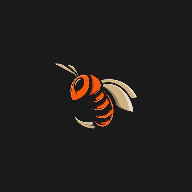Illustrazione di ape Vettore Premium