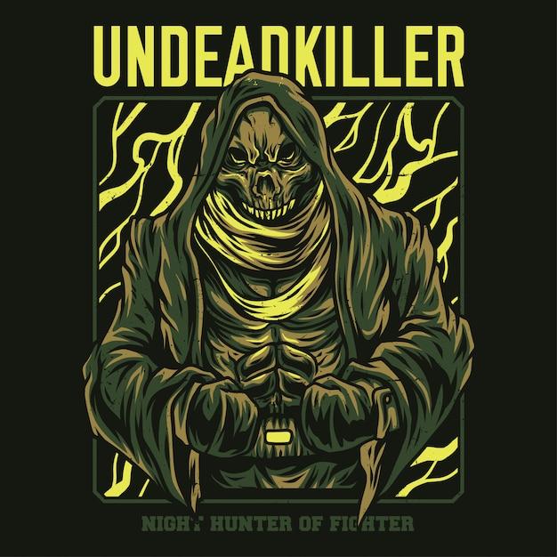 Illustrazione di assassini non morti Vettore Premium