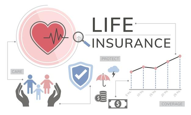 Illustrazione di assicurazione sulla vita Vettore gratuito