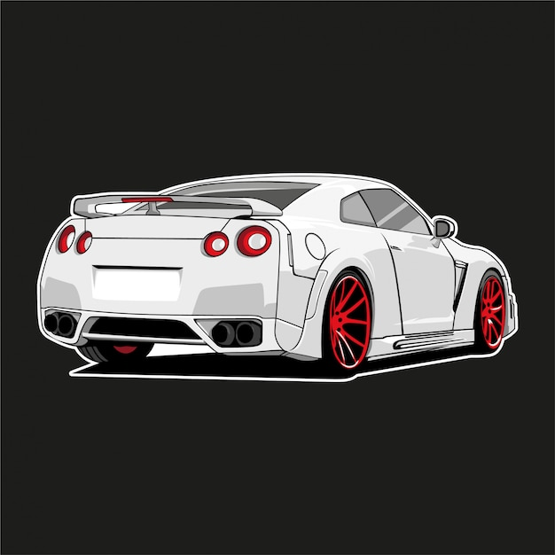 Illustrazione di auto mostro Vettore Premium