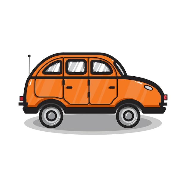 Illustrazione di auto veicolo multiuso disegnato a mano Vettore gratuito