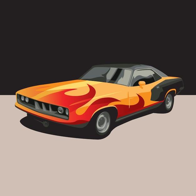 Illustrazione di auto Vettore Premium