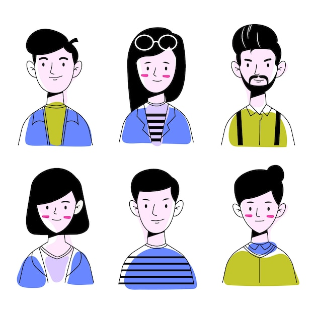 Illustrazione di avatar di persone Vettore gratuito